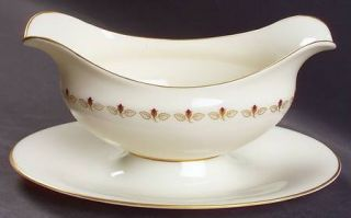Lenox China Romance Gravy Boat with Attached Underplate, Fine China Dinnerware