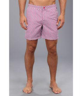 Original Penguin Fixed Waist Geo Volley Swim Short Mens Swimwear (Red)