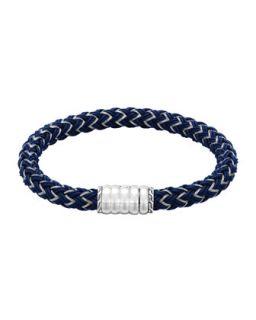Bedeg Mens Nylon Cord Bracelet, Blue   John Hardy   Blue