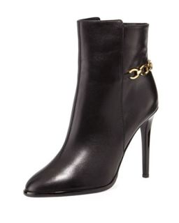 Beckett Leather Chain Bootie, Black   Diane von Furstenberg   Black (37.5B/7.5B)