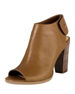 Wrey Peep Toe Leather Bootie, Camello   Cole Haan   Camello (35.0B/5.0B)