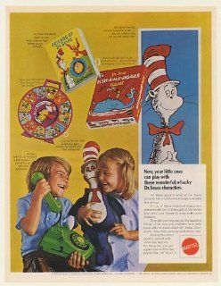1970 Mattel Dr Seuss See 'N Say Phone Storybook Doll Game Toys Print Ad (53485)   Mattel See And Say
