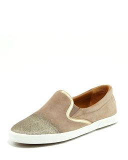 Demi Degrade Suede Skater Slip On   Jimmy Choo   Taupe/Taupe (37.5B/7.5B)
