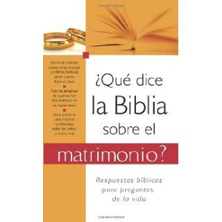 �Qu� dice la Biblia sobre el matrimonio?: What the Bible Says About Marriage (Spanish Edition): Compiled by Barbour Staff: 9781602608719: Books
