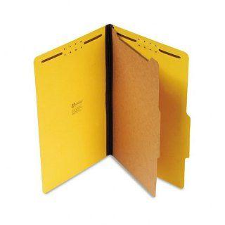 Pressboard Classification Folders, Legal, Four Section, Ruby Red, 10/Box  Top Tab Classification Folders