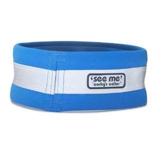 Corky's See Me Dog Collar, Small, Healer Blue  Pet Collars
