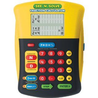 Educational Insights See 'N' Solve Fraction Calculator  Math See And Learn