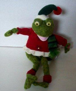 Singing, Swinging Christmas Frog Plush   That Says Rivet (Ribbit): Toys & Games