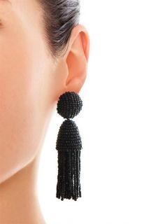 Bead tassel earrings  Oscar De La Renta