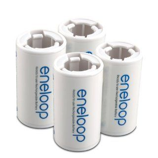 eneloop SEC CSPACER4PK C Size Spacers for use with AA battery cells: Electronics