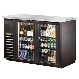"True   Double Swing Door 49"" Back Bar Cooler: Kitchen & Dining"