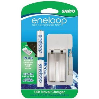 SANYO SEC MDU012AAN ENELOOP USB CHARGER WITH 2 AA BLISTER CARD BATTERIES SANYO SEC MDU012AAN ENELOO: Camera & Photo