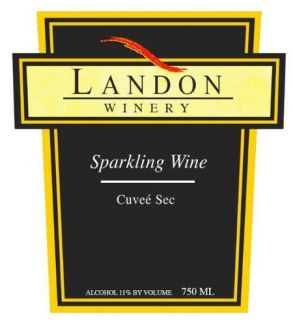 NV Landon Winery Sparkling Cuvee Sec, Texas 750 mL: Wine