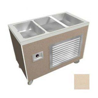 "Heritage Buffet Hot/Cold Unit, 2 Sec. Ice Pan, 240v, 46""L X 26 1/2""W X 36""H, Beige Grafix   Commercial Food Service Equipment"
