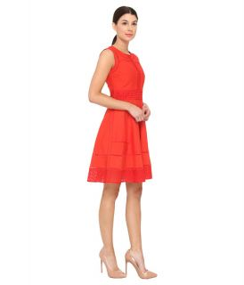 Rachel Roy Trim Combo Dress Pomegranate