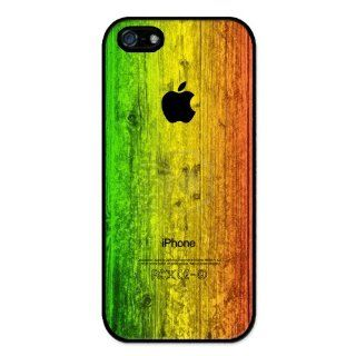 Rastafari Reggae Colors on Wood Pattern RUBBER iphone 5 case   Fits iphone 5 T Mobile, AT&T, Sprint, Verizon and International: Cell Phones & Accessories