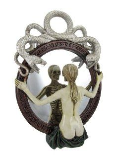 Gothic Female Skeleton Wall Mounted Mirror
