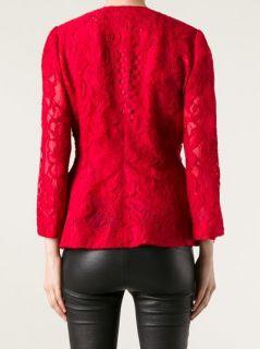 Dolce & Gabbana Floral Lace Peplum Jacket