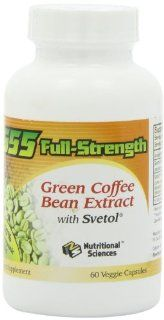 100% NATURAL G55 Full Strength Green Coffee Bean Extract (MAXIMUM Weight Loss)! #1 Clinically Proven to Control Your Appetite and Lose Weight!   60 Capsules/Bottle!: Health & Personal Care