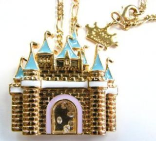Disney Couture 14K Gold Plated Magic Castle Necklace   As Seen On Nicole Riche * We Do NOT Ship To Australia And Japan *: Clothing