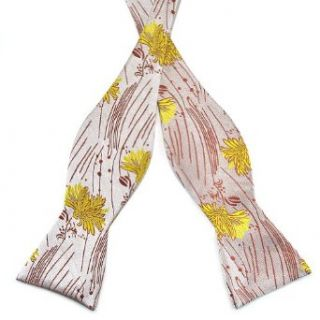 Mens Self Bow Tie Floral Jacquard Woven Silk Bow Ties at  Men�s Clothing store