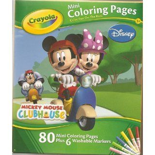 Disney Mickey Mouse Clubhouse Mini Coloring Pages (Design Varies): Toys & Games
