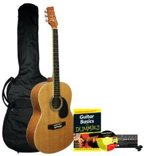 Guitar For Dummies Acoustic Guitar Starter Pack (Guitar, Book, Audio CD, Gig Bag) Musical Instruments