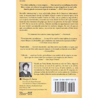 La Casa de los Esp�ritus (Spanish Edition): Isabel Allende: 9780060951306: Books