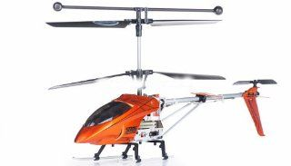 Syma S006G Alloy Shark RC Remote Control Metal Frame Helicopter w/ Gyroscope (ASSORTED COLORS SENT AT RANDOM ORANGE, RED) Toys & Games
