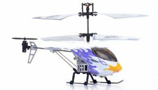 3 Channel Mini Indoor Infrared Phoenix Metal Helicopter w/ Built in Gyro (ASSORTED COLORS SENT AT RANDOM): Sports & Outdoors