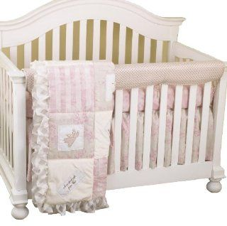 Cotton Tale Designs Front Crib Rail Cover Up Set, Heaven Sent Girl : Crib Bumpers : Baby