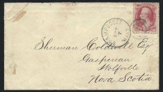United States 1872, Scott #148, 6c Lincoln, on Cover, Sent from Swampscott, Mass. to Nova Scotia: Everything Else