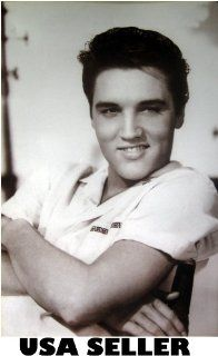 Elvis Presley casual b&w poster 21 x 31 as he looked in early 60s (sent FROM USA in PVC pipe) : Prints : Everything Else