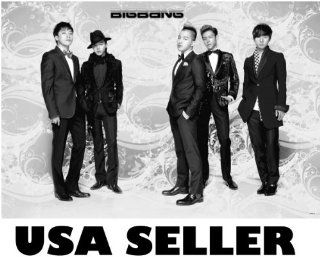 Big Bang standing horiz b&w POSTER 34 x 23.5 Bigbang Top T.O.P. G Dragon Tae Yang Korean K pop boy band (poster sent from USA in PVC pipe) : Prints : Everything Else