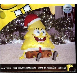 2011 3.5' Nickelodeon SpongeBob Squarepants Christmas Tree Airblown Inflatable by Gemmy Sponge Bob : Patio, Lawn & Garden