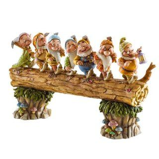 Disney Traditions by Jim Shore 4005434 Seven Dwarfs Walking Over Fallen Log Figurine 8 1/4 Inch   Collectible Figurines