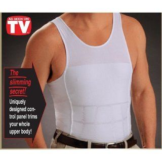 Men's As Seen On TV Back Posture Correct Shape Slimming Stomach Compression T shirt (Small) Health & Personal Care