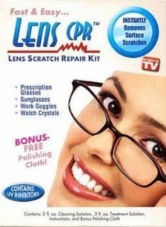 As Seen on TV Lens Scratch Repair Kit With UV Inhibitors (4 Pack): Health & Personal Care