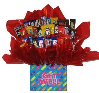 Chocolate Candy bouquet in a Bandaid   Get Well Soon box