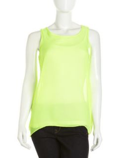 Hi Low Tunic, Neon Yellow