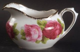 Royal Albert Old English Rose (Brushed Gold Trim) Mini Creamer, Fine China Dinne