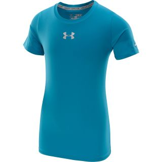 UNDER ARMOUR Girls HeatGear Sonic Short Sleeve T Shirt   Size: Medium,