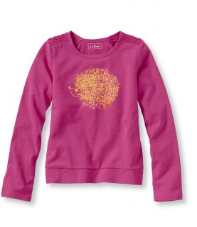 Girls Freeport Knits, Ruched Graphic Tee, Hedgehog Girls
