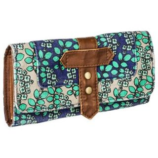 Mossimo Supply Co. Floral Print Wallet   Blue