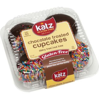 Katz Gluten free Chocolate Frosted Cupcakes with Sprinkles (2 Packs