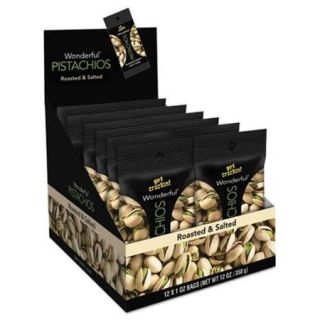 Paramount Farms Inc. 072142A25X Wonderful Pistachios Roasted & Salted 1 oz Pack 12/Box