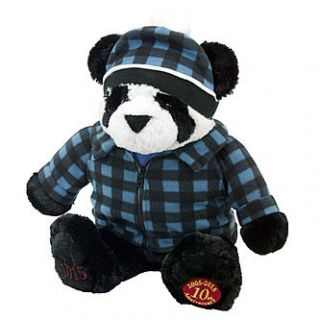 ROEBUCK AND CO 2015 Christmas Collectible Plush Panda   Seasonal