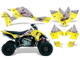 2006 2009|Suzuki|LTR|450::AMRRACING ATV Graphics Decal Kit:T Bomber Yellow