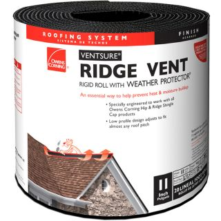 Owens Corning VentSure 11 in x 240 in Black Plastic Roll Roof Ridge Vent