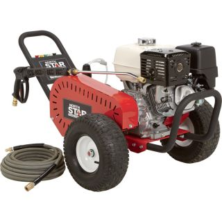 NorthStar Gas Cold Water Pressure Washer — 4000 PSI, 3.5 GPM, Honda Engine, Belt Drive, Model# 1572041  Gas Cold Water Pressure Washers